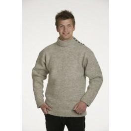 Traditionel færøsk sweater - lysegrå