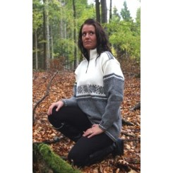 Flot sweater med lynlås