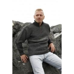 Enkel koksgrå sweater