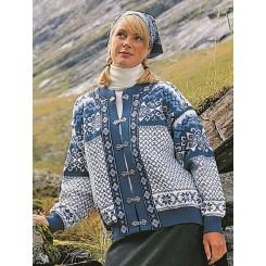 Lyseblå Borgund cardigan