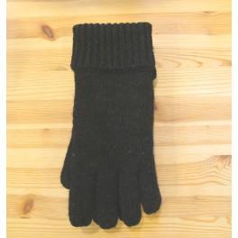 Sort ragwool handske - damer