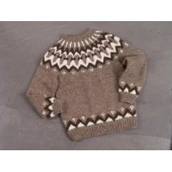 Brun islandsk sweater til MÆND!