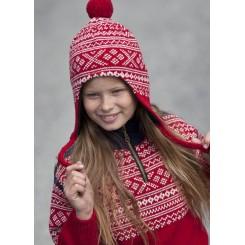 Viking rød Setesdal hue
