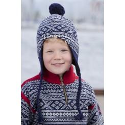 Viking blå Setesdal hue