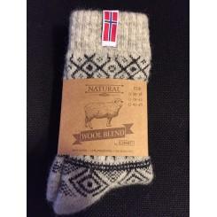 Norske ragsokker med mønster - koks
