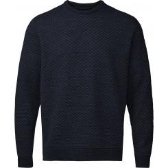 Sweater med rund hals - marine