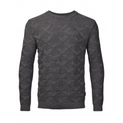 Sweater med rund hals