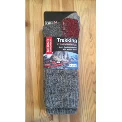 Merino wool vandre ragsok - sort med rød