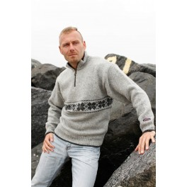 Lysegrå sweater