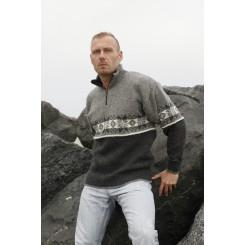 Lysegrå stjerne sweater