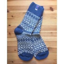 Sokker i kamgarn - lyseblå