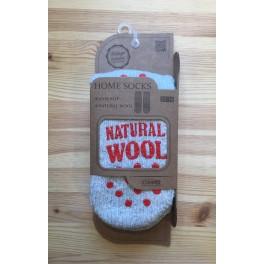 Sokker med gummi dupper - grå/rød