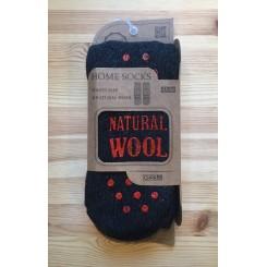 Sokker med gummi dupper - koks/rød