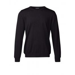Merino sweater med rund hals