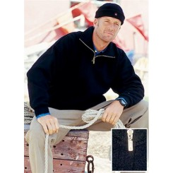Sømandssweater med lynlås