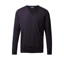 Merino sweater med V-hals