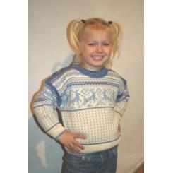 Lyseblå rensdyr sweater