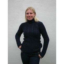Irsk aran sweater - marineblå