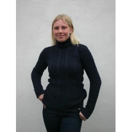 Irsk aran sweater - marineblå
