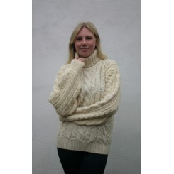 Irsk sweater med rullekrave