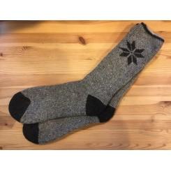 Wool blend ragsok - børstet