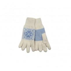 Lyseblå snow flake handske