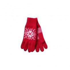 Rød snow flake handske