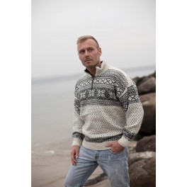 Råhvid sweater