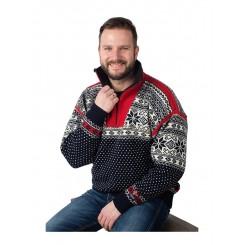 Nordlys sweater med lynlås
