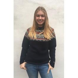 Sweater med rund hals