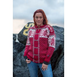 Norsk cardigan - rød