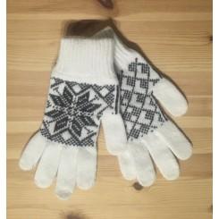 Islandsk dame handske - natur/koks