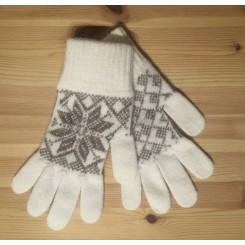 Islandsk dame handske - natur/beige