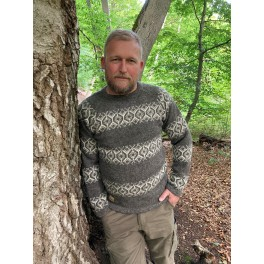 Færøsk sweater - mellemgrå