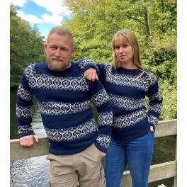 Færøsk sweater - marine