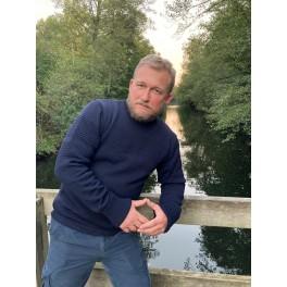 Hanstholm sweater med rund hals - marine