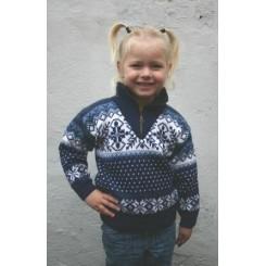 Sweater med lynlås