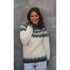 Hvid islandsk sweater