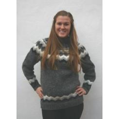 Koksgrå islandsk sweater