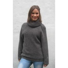 Koksgrå sweater med stor krave