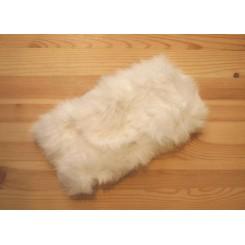 Hvidt pels pandebånd