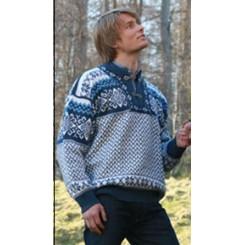Lyseblå Borgund sweater