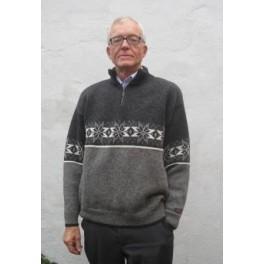 Koksgrå stjerne sweater