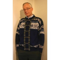 Marineblå Norwool cardigan
